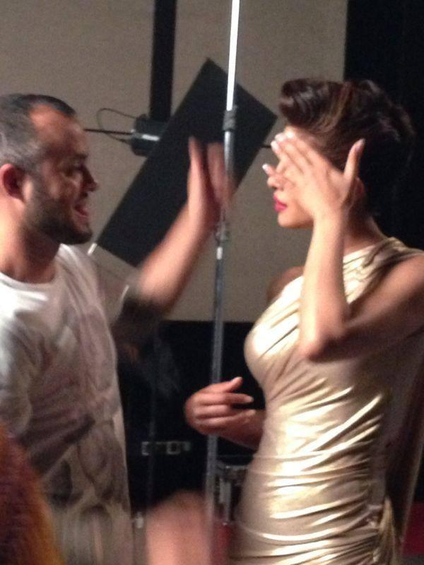 Priyanka Chopra With Famous Make-Up Artist, Daniel Bauer For A Print Campaign
