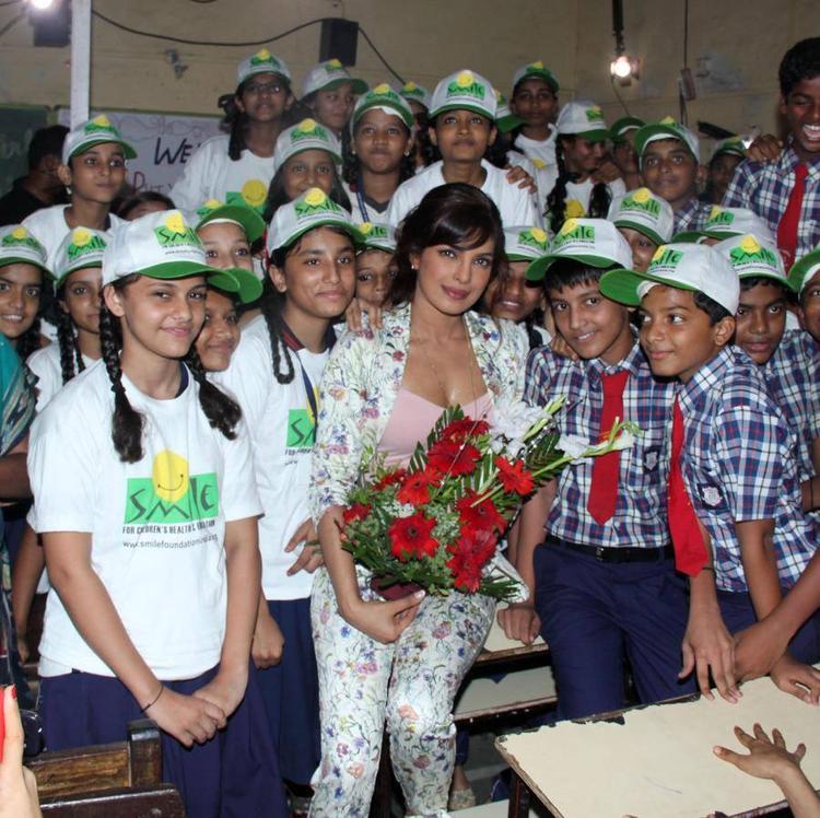 Priyanka Chopra Recently Visited Holy  Mother School At Khushi NGO To Celebrate International Girl Child Day