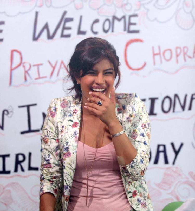 Priyanka Chopra Smiling Pic During International Girl Child Day Event