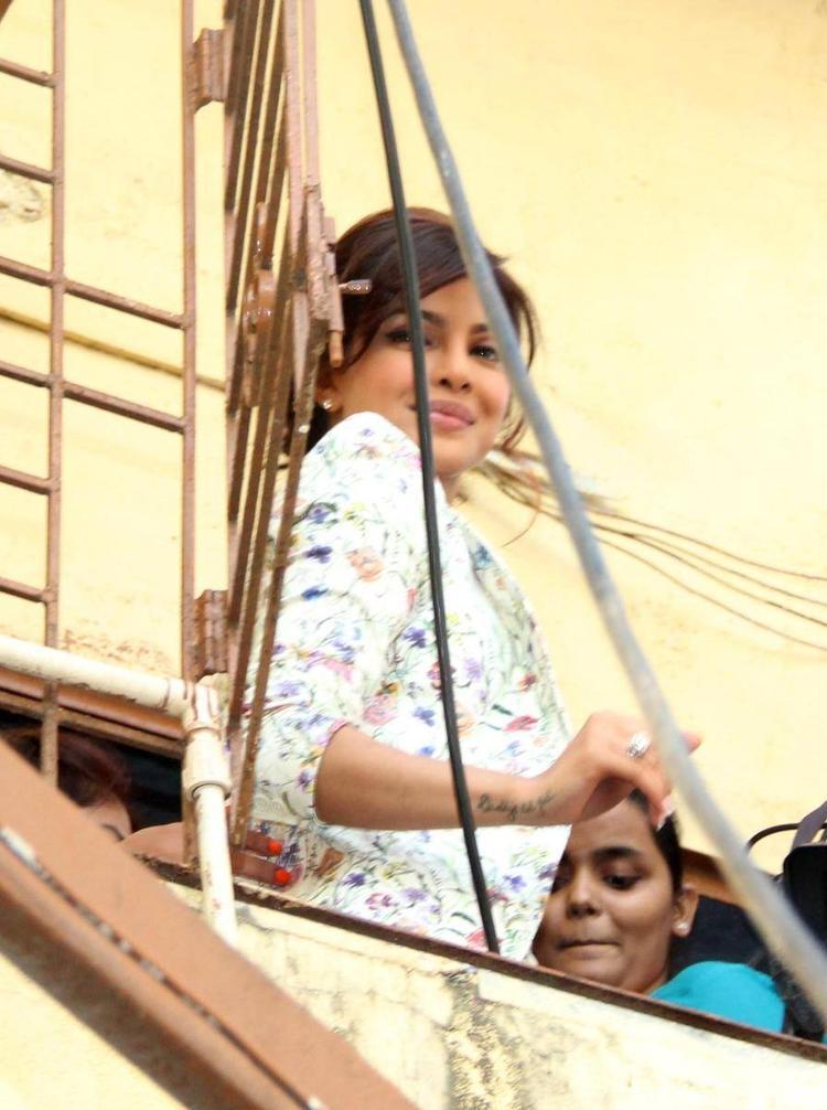 Priyanka Chopra Spotted At Holy  Mother School at Khushi NGO