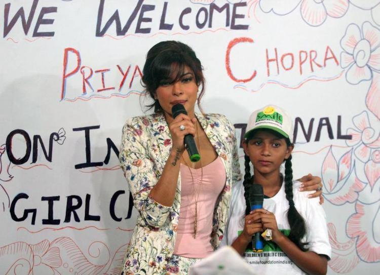 Priyanka At Holy Mother School At Khushi NGO To Celebrate International Girl Child Day