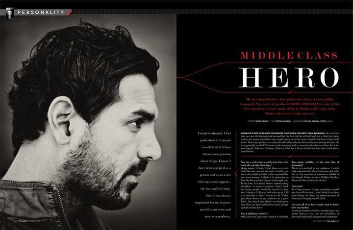 John Abraham  On Th Cover Of The Man Magazine