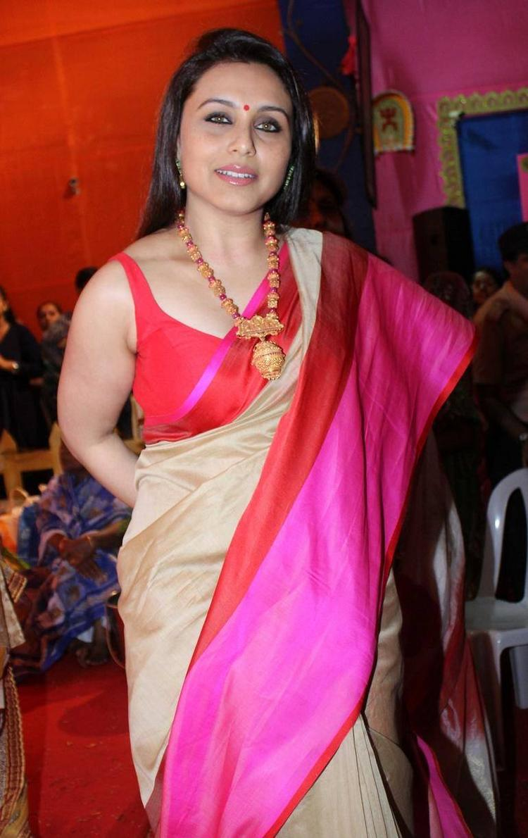 Rani Mukherjee Spotted In Mumbai For Durga Puja Celebration