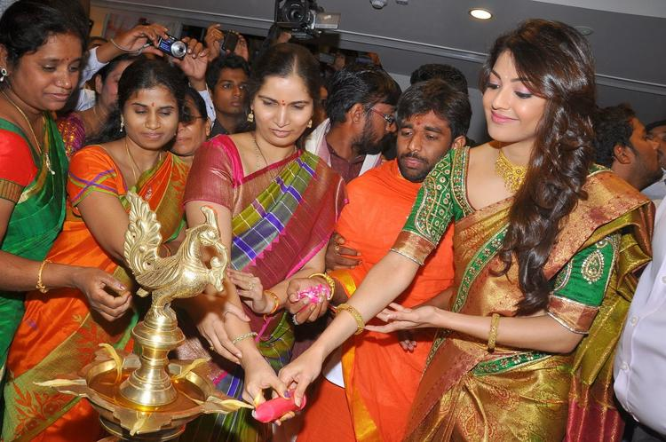 Hot Kajal Aggarwal Inaugurate's Chennai Shopping Mall