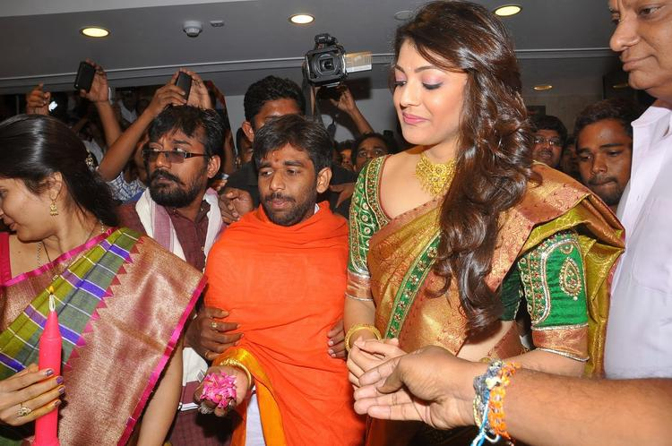 Kajal Aggarwal Snapped To Launch Chennai Shopping Mall