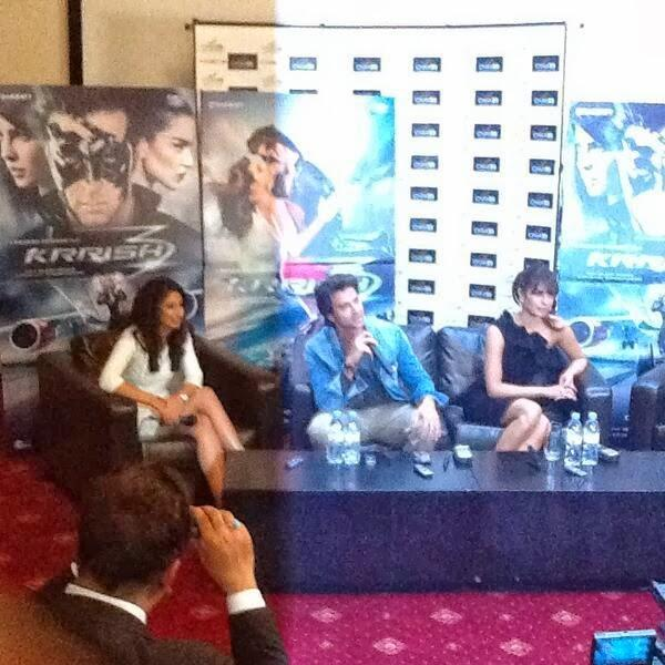 Hrithik And Priyanka During The  Krrish 3 Promotional Event In London