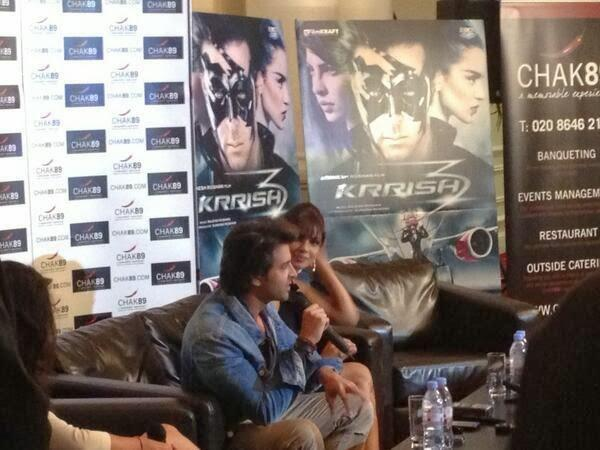 Hrithik And Priyanka Krrish 3 Press Conference Pic In London