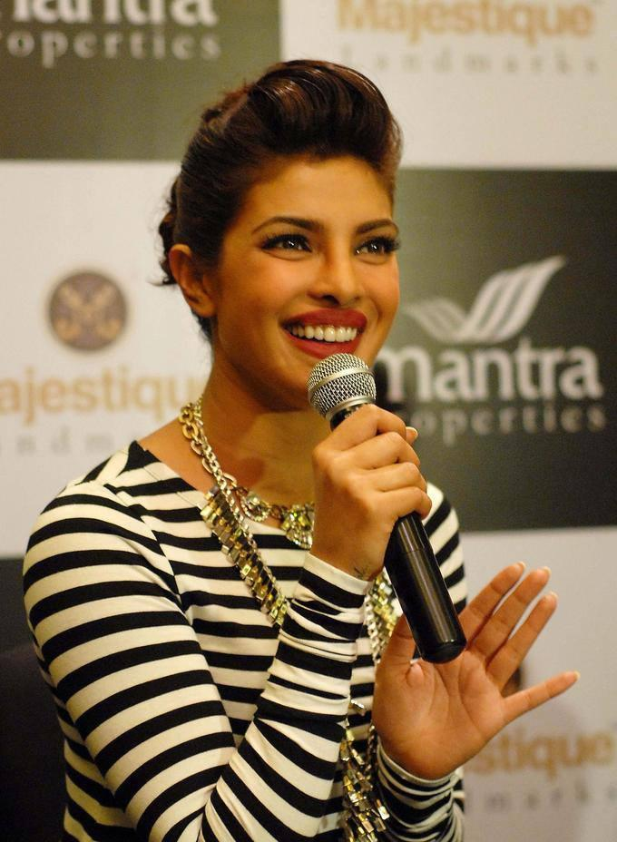 Priyanka Chopra Smiling Pic During The Mantra Properties Project Launch Event