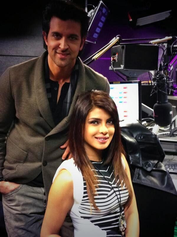 Hrithik And Priyanka Exclusive Pic During The Promotion OF Krrish 3 At The BBC Asian Network