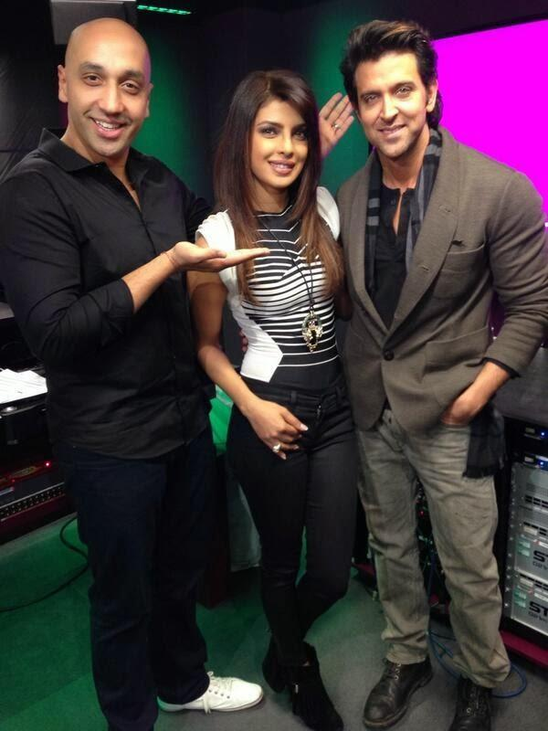 Hrithik And Priyanka Spotted At The BBC Asian Network To Promote Krrish 3
