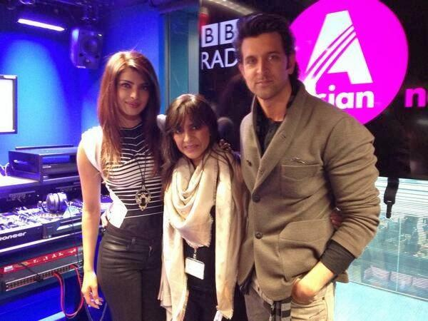 Hrithik And Priyanka Strikes A Pose For Promotion Of Krrish 3 At The BBC Asian Network