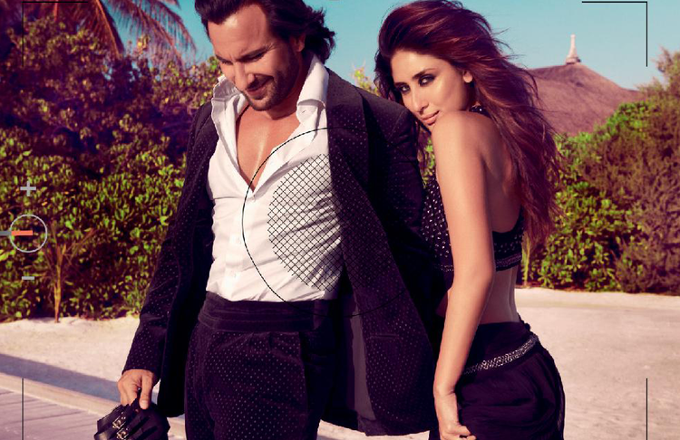 Kareena And Saif Latest Sexy Still On The Cover Of Harpers Bazaar 2013