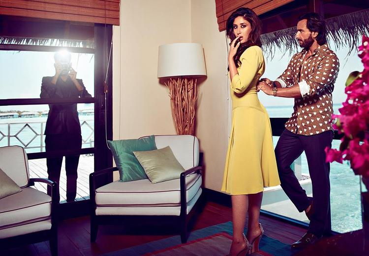 Kareena And Saif Photo Shoot For Harpers Bazaar Oct 2013 Issue