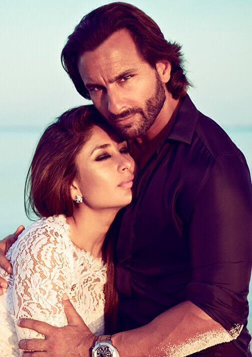 Kareena Hot With Hubby Saif On The Cover Of  Harpers Bazaar India October 2013
