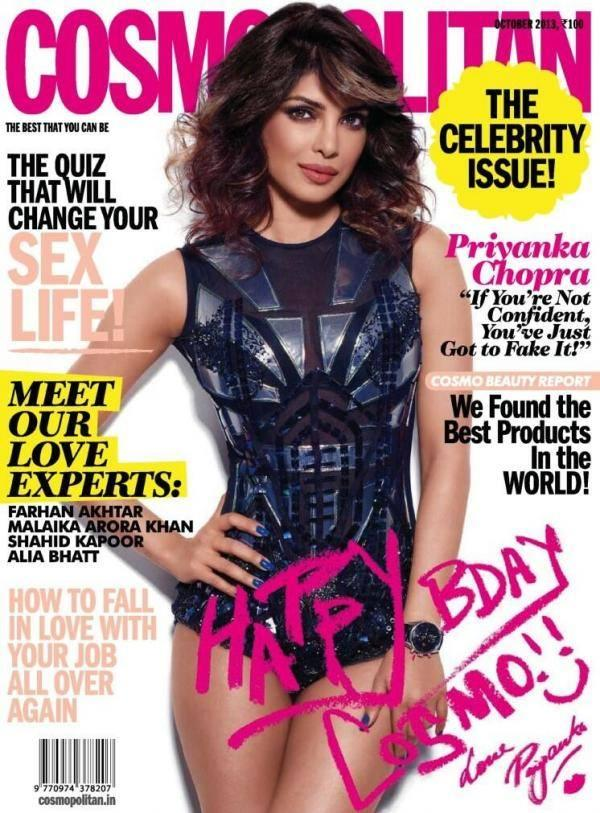 Priyanka Chopra Sizzles On The Cover Of Cosmopolitan October 2013 Issue