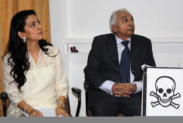 Juhi Chawla At A Press Meet To Discuss Radiation