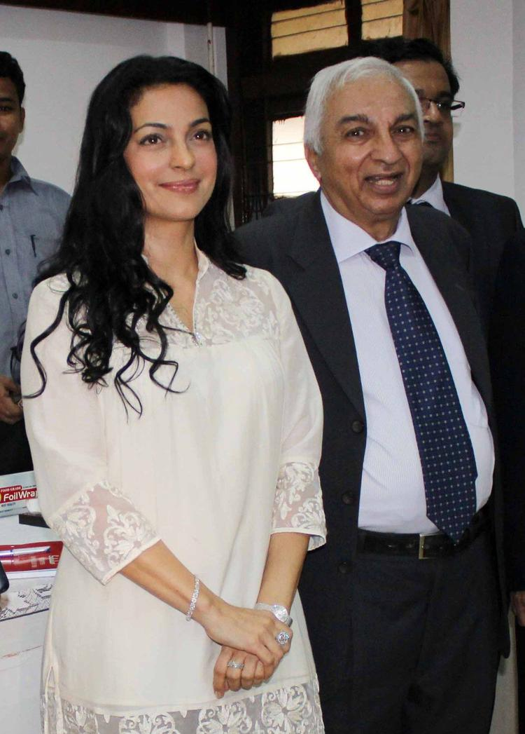 Juhi Chawla Spotted At Harmful Effects Of Radiation Campaign