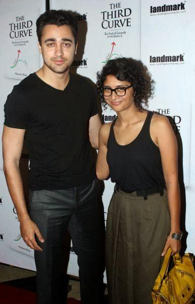 Imran Khan and Kiran Rao Spotted At The Third Curve Book Launch Event