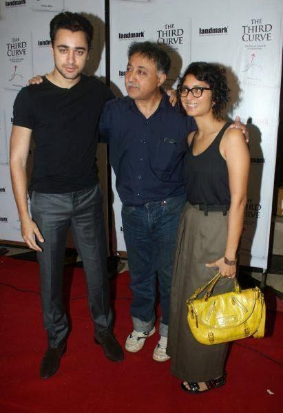 Imran Khan,Mansoor Khan And Kiran Rao At The Third Curve Book Launch Event