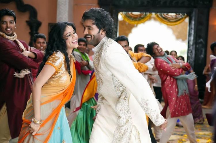 Vishnu And Lavanya Dance Still In New Telugu Movie Doosukeltha