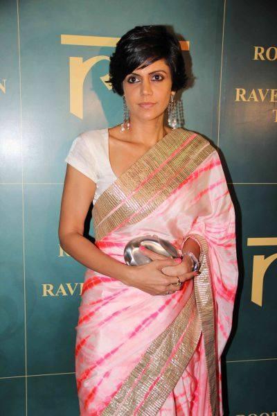 Mandira Bedi Looking Nice During Raveena Tandon Jewellery Line Launch Event