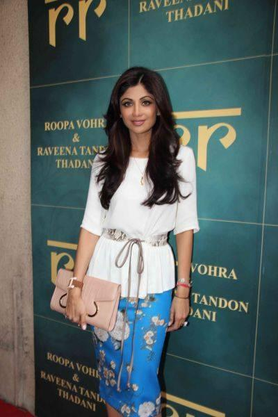 Shilpa Shetty Spotted At The Launch Of Raveena Tandon And Roopa Vohra's Jewellery Line