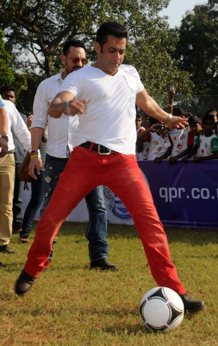 Salman Khan Kicks Off Milind Deora's Charity Soccer Match