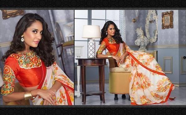 Lisa Haydon Looks Gorgeous In This Silk Saree