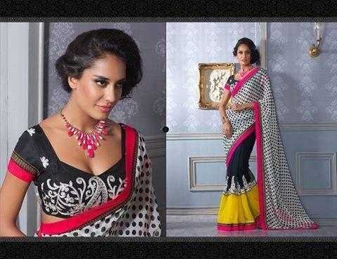 Lisa Haydon New Indian Designed Saree Photo Shoot