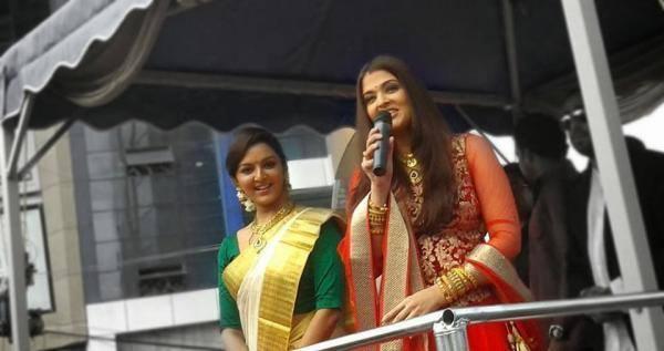Aishwarya And Manju Meet Their Fans During Kalyan Showroom Launch Event