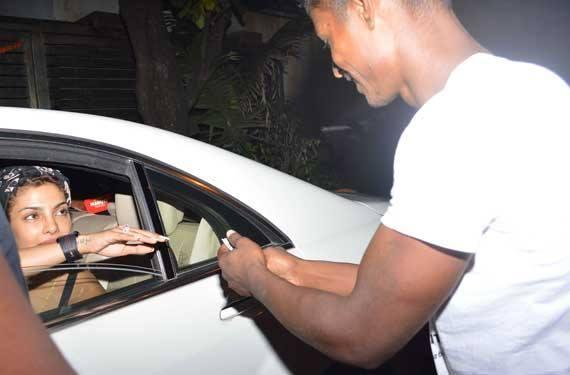 Priyanka Chopra In Car Outside Of The Zoya Akhtar's Residence