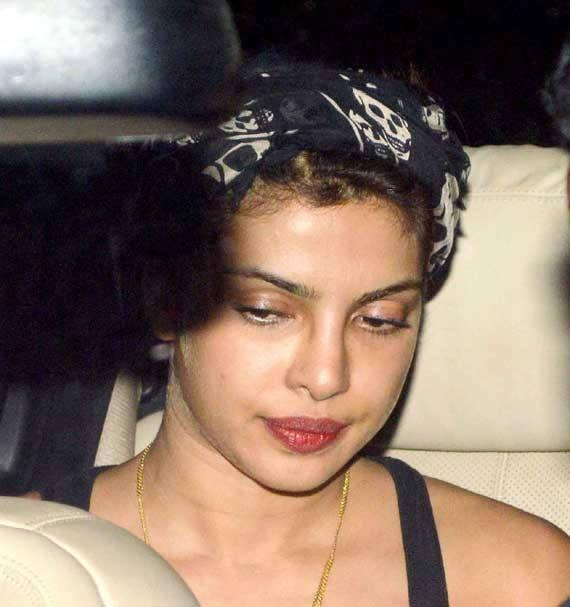 Priyanka Chopra Red Lippy Cool Look At Outside Of The Zoya Akhtar's Residence