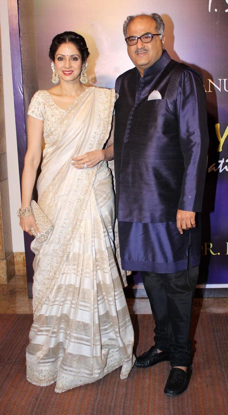 Sridevi and Her Fimmaker Husband Boney Arrives The Yash Chopra Memorial Awards Ceremony