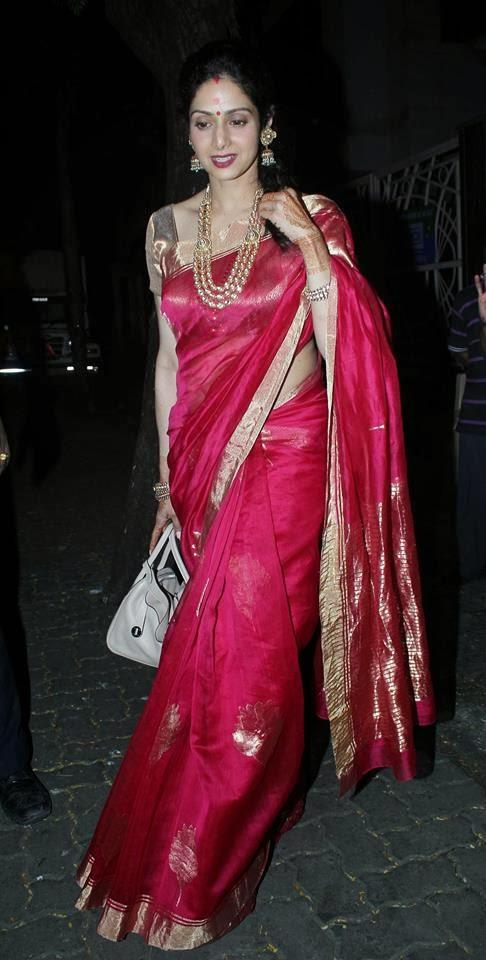 Sridevi Kapoor Gorgeous Look After Karwa Chauth Festival