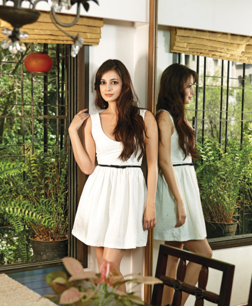 Dia Mirza Looking Very Cute In This White Frock On Filmfare Magazine