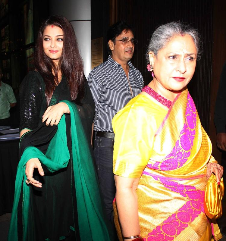 Aishwarya And Her Mom-In-Law Jaya Spotted At Rehana Ghai's B'day Bash