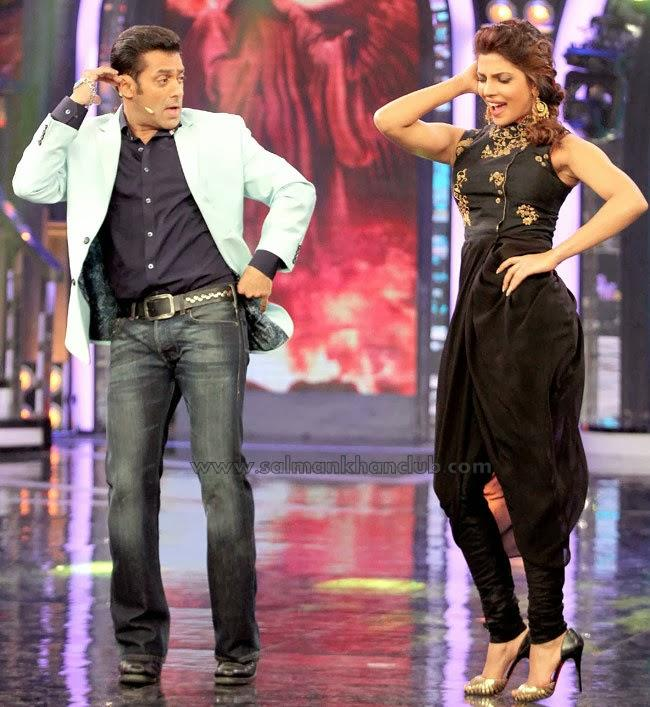 Priyanka Chopra And Salman Khan Shakes Their Legs On The Sets Of Bigg Boss 7