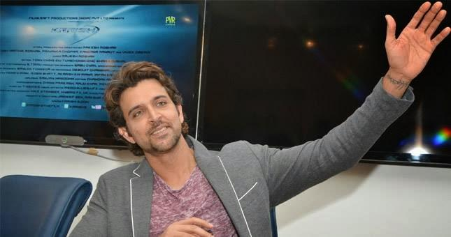 Hrithik Roshan At A Press Conference In Indore For Krrish 3