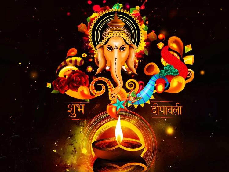 Happy Diwali Wallpaper Ganapati Pic
