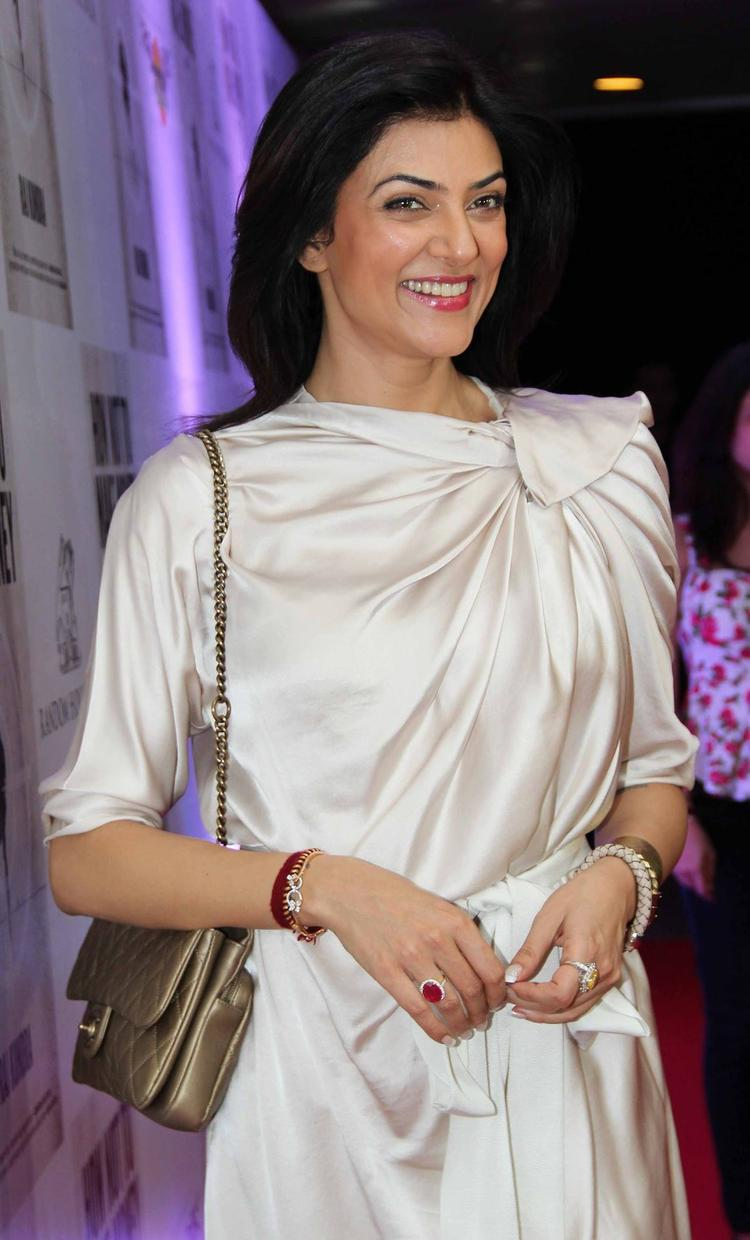 Sushmita Sen Spottd At Raj Kundra's Book's Success Bash