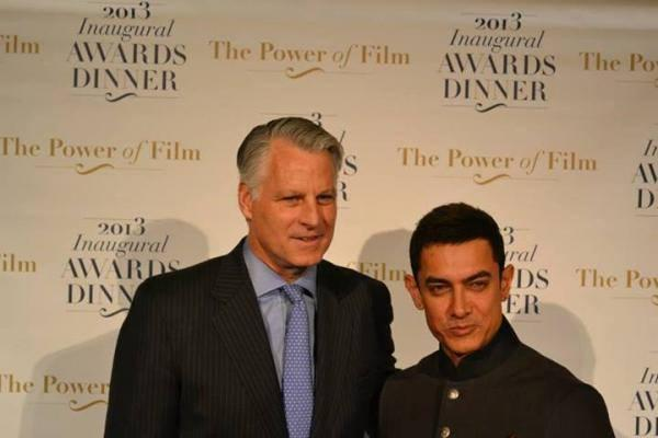 Aamir During America Abroad Media's 2013 Inaugural Awards Gala Dinner