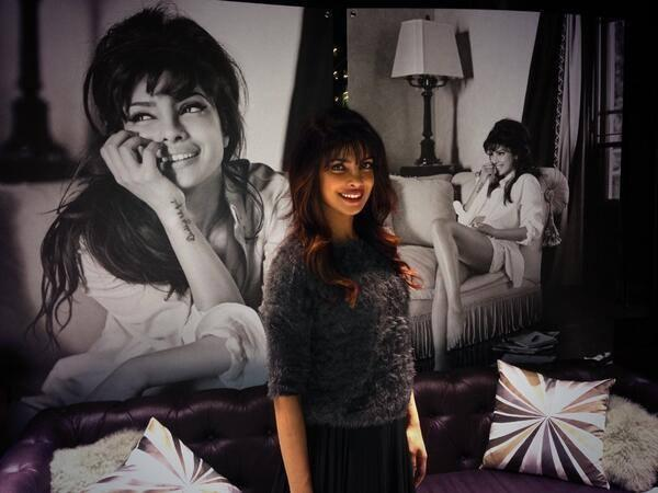 Priyanka Chopra Cool Smiling Look At The GUESS Spring 2014 Press Preview Event