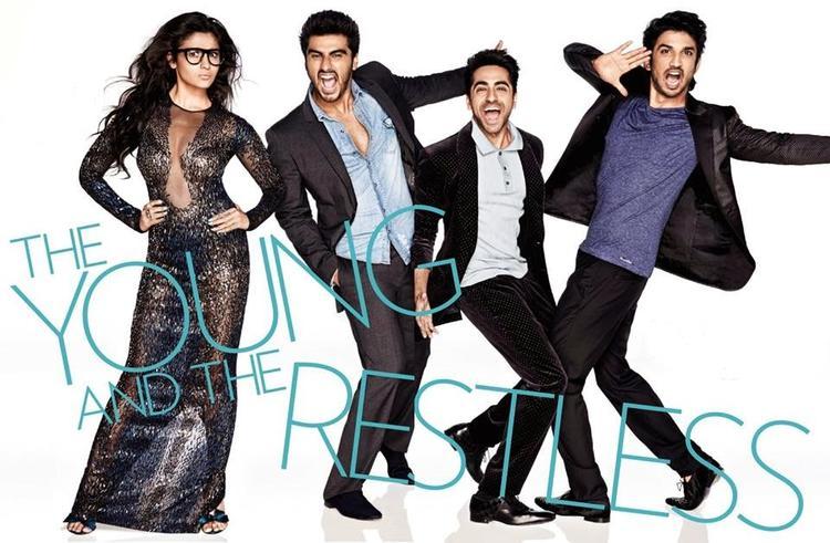 Alia,Arjun,Ayushmann,Sushant Latest Stills On The Cover Of Vogue Magazine Nov 2013
