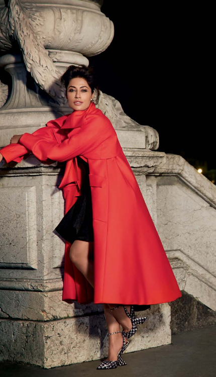 Chitrangada Singh Latest Still Wore A Red Jacket For  Harper's Bazaar