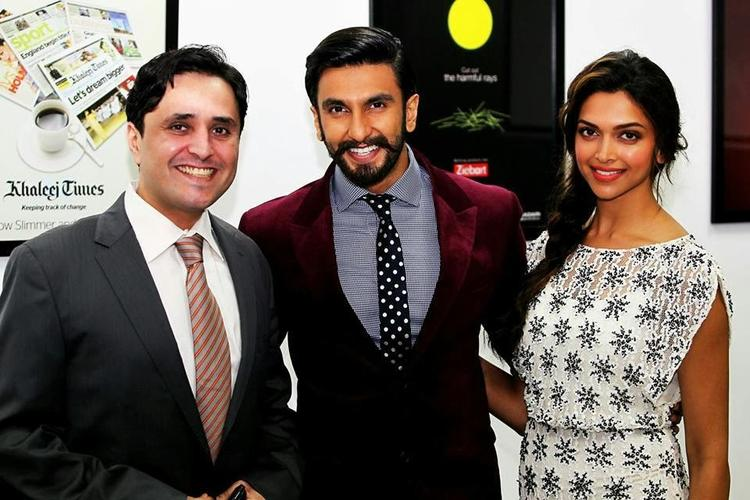 Ranveer And Deepika Cool Posed During The Promotion Of Ram-Leela At Khaleej Times Office In Dubai