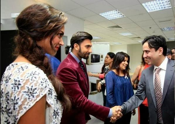 Ranveer And Deepika Visits Khaleej Times Office In Dubai For Promoting Ram-Leela