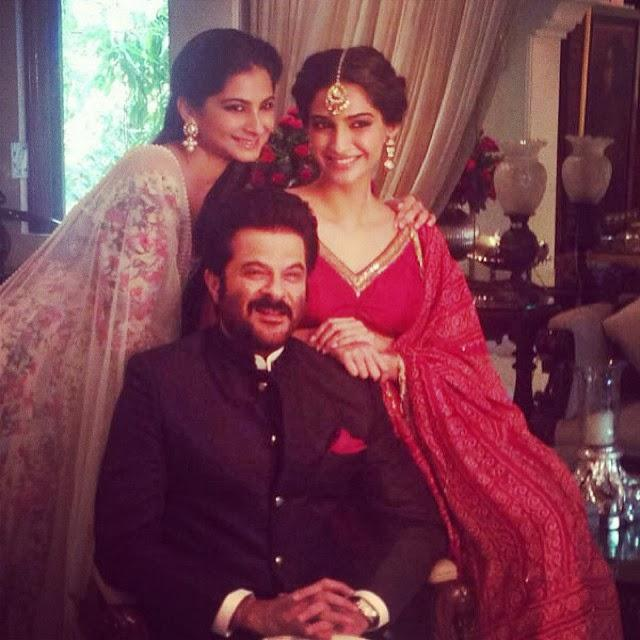 Anil Kapoor With Daughter Sonam And Rhea Pic On Diwali Morning