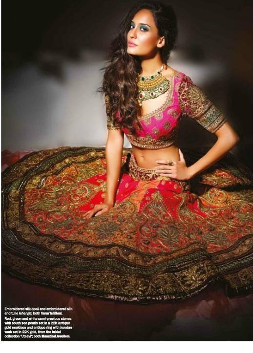 Lisa Haydon With Bridal Costume On The Cover Of Noblesse Magazine