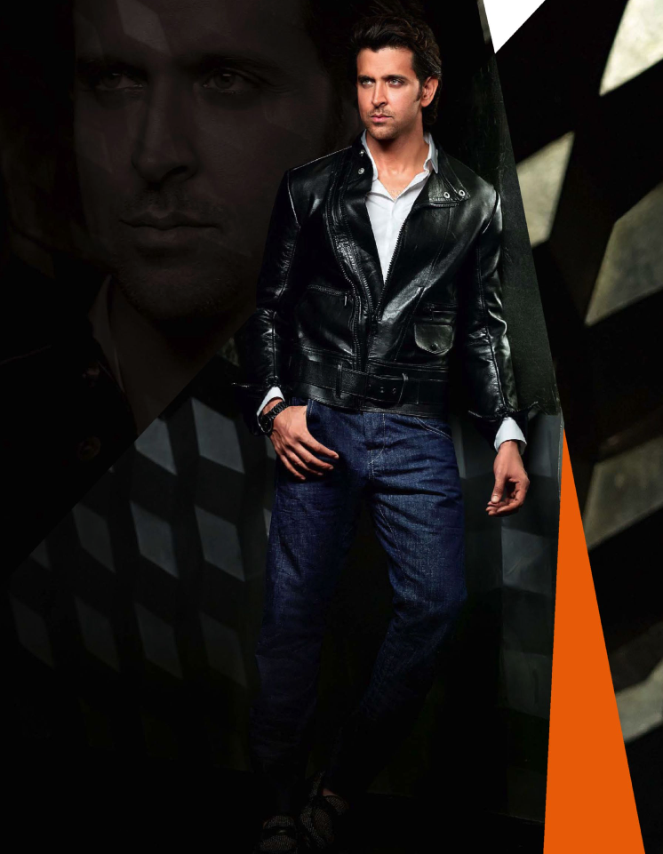 Hrithik Roshan Very Coolest Pose Pic On The Cover Of GQ India Nov 2013 Issue