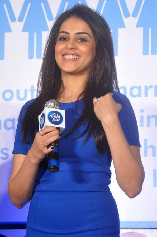 Genelia Smiling During Ambi Pur's Refresh Your Love Campaign Launch Event